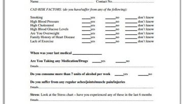 health-history-questionaire