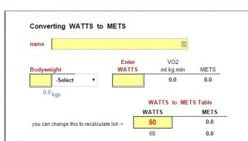 watts-to-mets